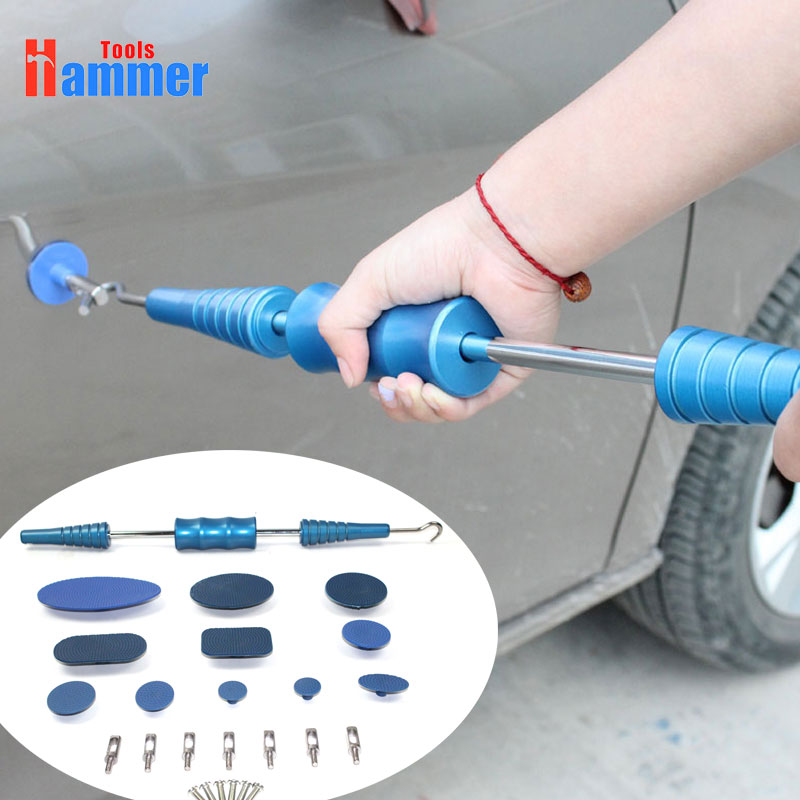 Dent Removal Paintless Dent Repair Tools Dent Puller Slide Hammer Puller Tabs Hand Tools Kit цена