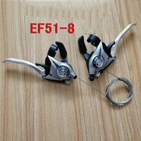 SHIMANO MTB Bicycle Brake Levers Set Brake Shifter Shift 3x8 Speed ST EF51 8
