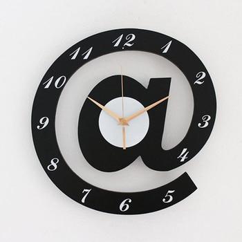 European Retro Wall Clock Vintage 12 Inch Digital Clocks Wall Home Decor Kitchen creative Wooden Watch Home Marij Uana Antik B48