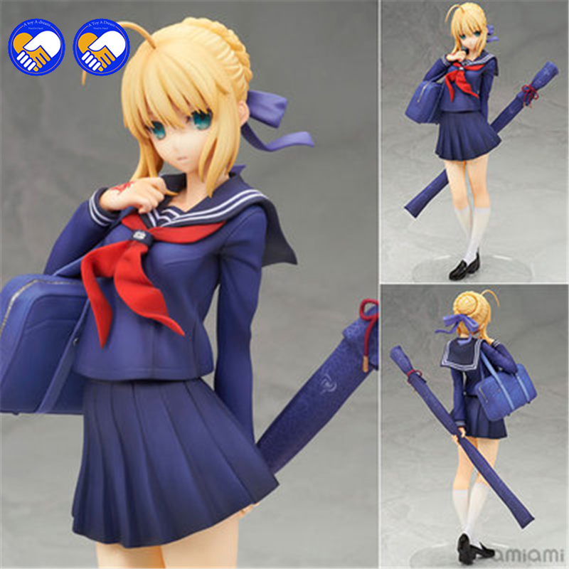 A toy A dream Anime ALTER Fate Stay Night School Uniform Saber Sailor clothes H18cm Sexy Girl Kawaii Collection Model Toy a toy a dream anime high school dxd sexy