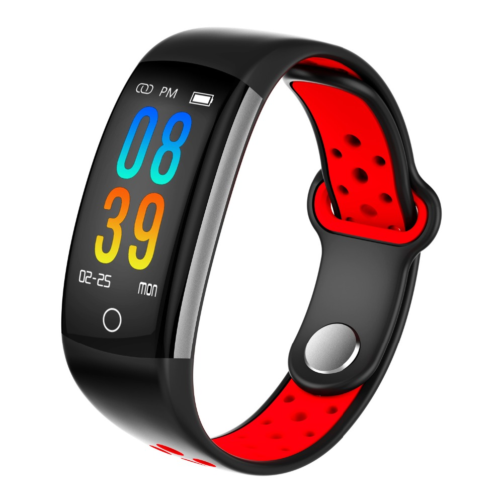 0.96 LCD Q6 Smart Band Heart Rate Monitor Fitness Bracelet IP68 Waterproof Watches Blood Pressure Oxygen Fintess Tracker