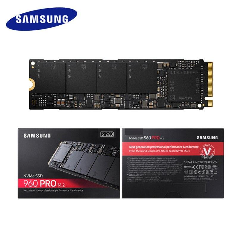 Samsung внутренний SSD 960 PRO 512 ГБ 1 ТБ 2 ТБ Внутренние твердотельные накопители PCIe 3,0x4 NVMe 1,2 жесткий диск для портативных компьютеров PC