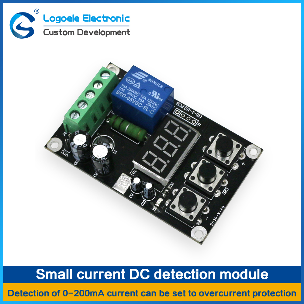 High Quality 0 200ma Small Current Dc Detection Sensor Function Of Overcurrent Relay Module Output With Set In Home Automation Modules From Consumer Electronics On