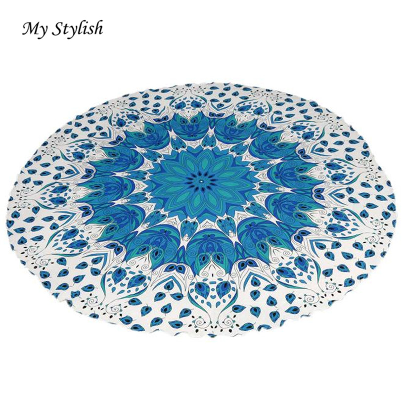 Round Beach Pool Home Shower Towel Blanket Table Cloth Mat Beautiful High Quality 2017 Brand New Jan 6