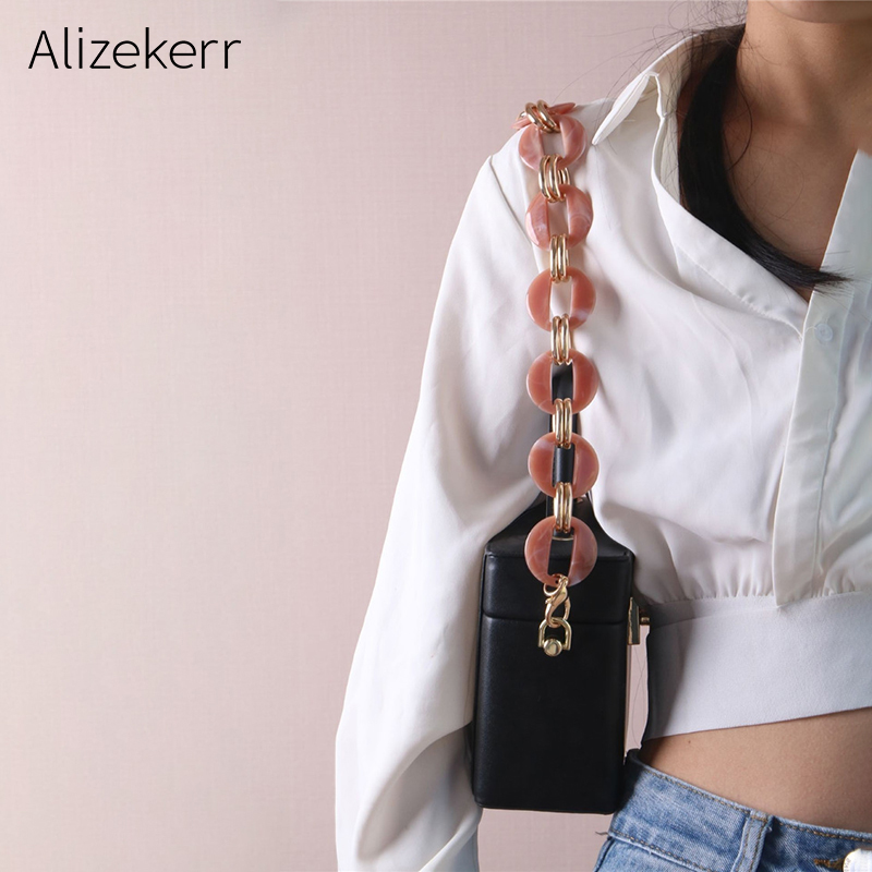 Luxury Acrylic Alloy Shoulder Bag Strap Women Desigener 60cm Chain Handle Belt Purse Shoulder Strap Bag Shoulder Strap Female