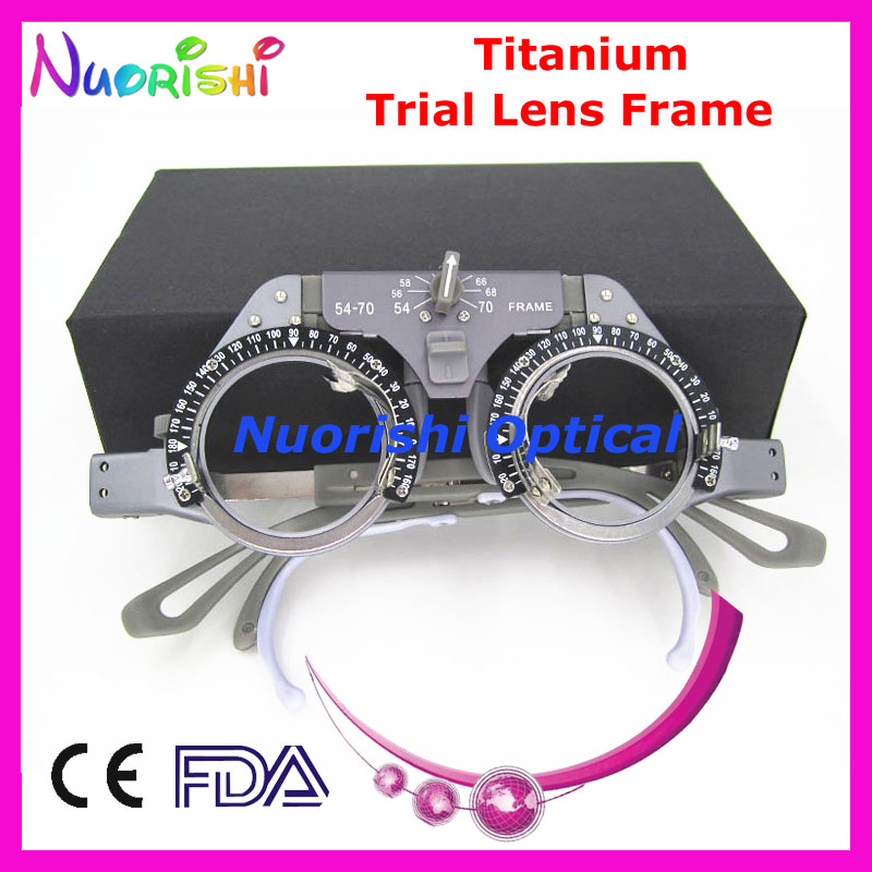 XD22 Neue Titan Optische Optometrie Augenprobeobjektiv Linse Rahmen Licht Gewicht 52g Onlly Niedrigsten Versandkosten