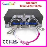 XD22 Nowy Tytanu Okulistycznych Optometrii Próby Soczewki Optyczne Ramki Światła Waga 52g Onlly Najniższe Koszty Wysyłki