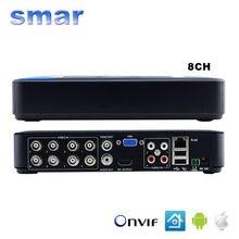 Smar Mini 8CH Full D1 H.264 HDMI Security System CCTV DVR 8 Channel 720P 1080P NVR Hybrid DVR Recorder Mobile DVR RS485 PTZ Hot