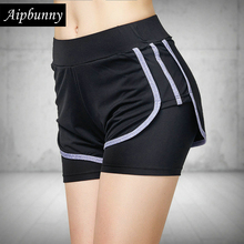 Aipbunny 2019 Lulu Sports Jersey Women Gym Outdoor Running Shorts jogging Workout Exercise Fitness Female Short large size XXXL