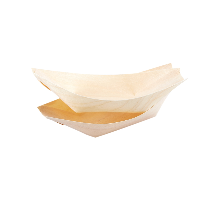 50x finger food bowls quot boat quot biodegradable wood 11 cm x 6 5 cm in Disposable Party Tableware from Home amp Garden