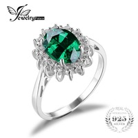 Luxury British Kate Princess Diana William Engagement Wedding 2 5ct Nano Russian Emerald Ring Sets Solid