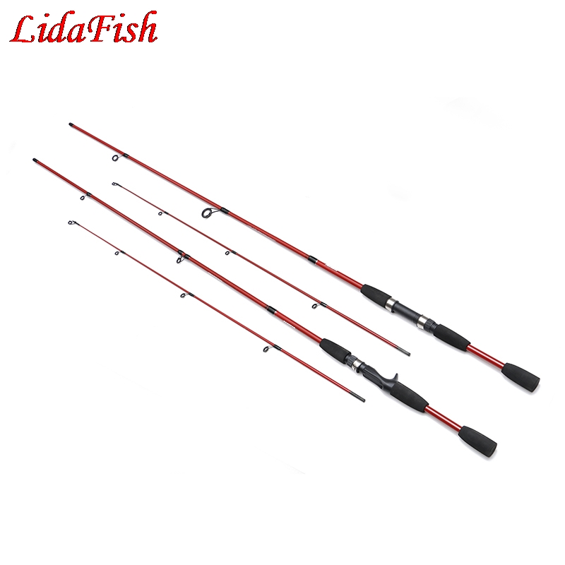 Fishing Rod 1.8M 2.1M 2/3 Section M Power Carbon Fiber Spinning/Casting Travel Rod Tackle
