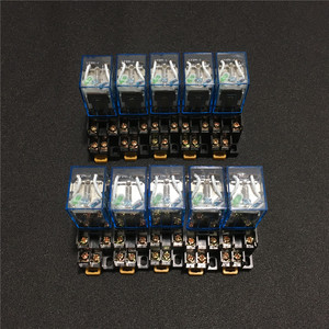 Image 2 - 10 zestawów LY2NJ 12VDC 24VDC 110VAC 220VAC mocą cewki przekaźnik Mini przekaźnik 8 Pins DPDT 10A LY2N J HH62P JQX 13F z PTF08A podstawa gniazda