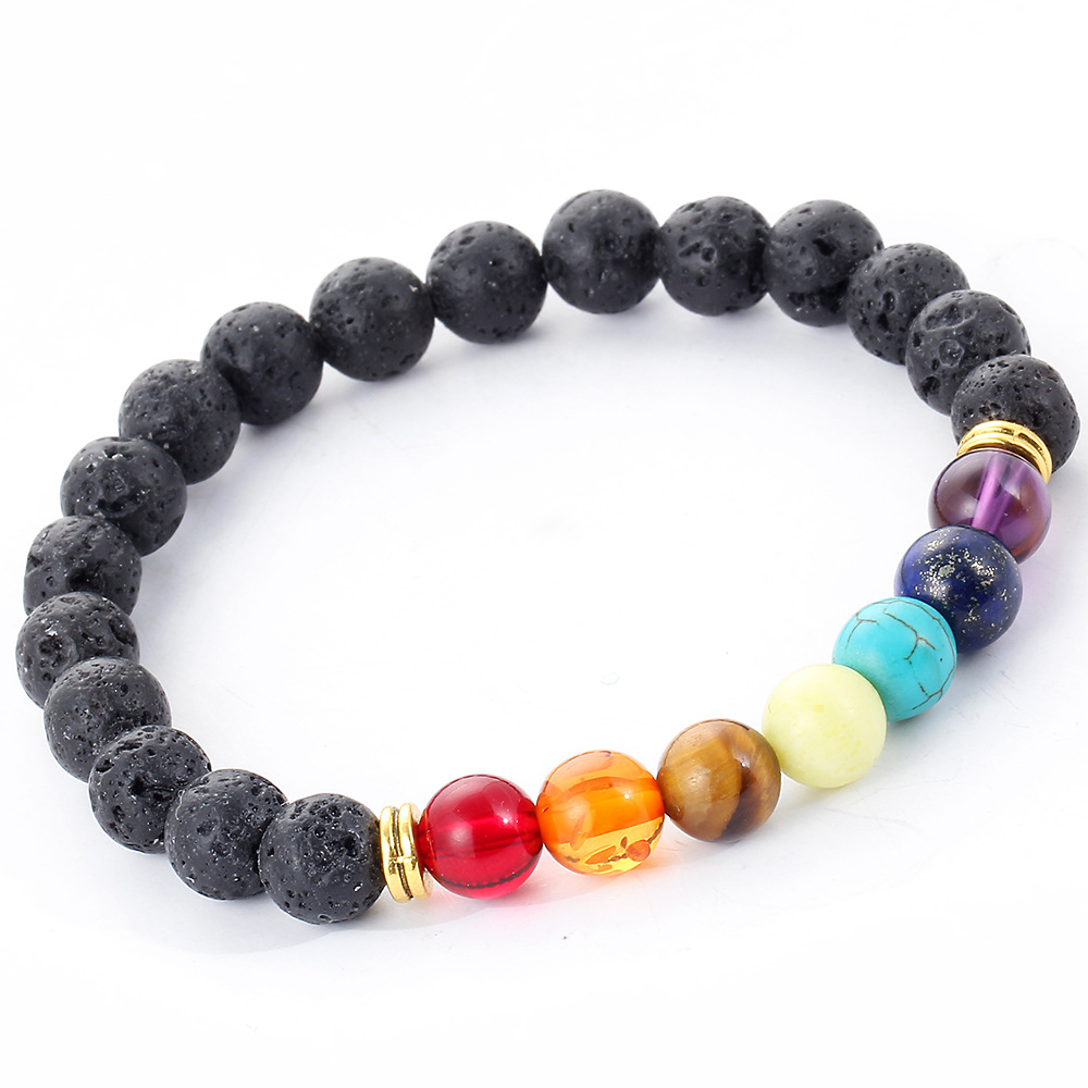 Buy muti color mens bracelets black lava for Selling jewelry on amazon