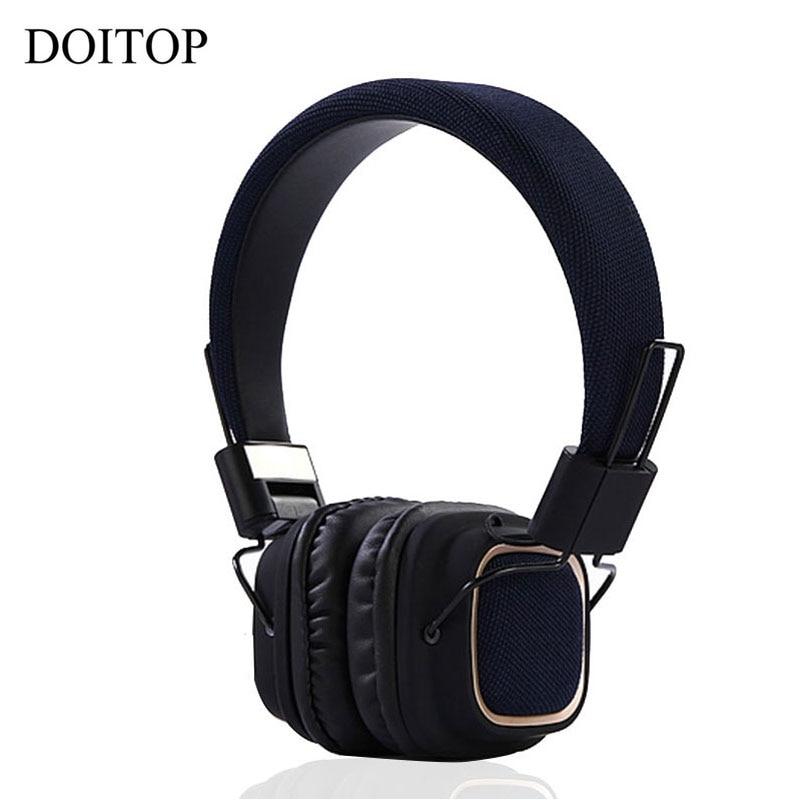 Nestest Bluetooth 4.2 Headhone Headset Wireless Stereo HD Earphone Portable Folding Headset with Mic For Smartphone Tablet PC #4 philips pc headset shm7410u 10