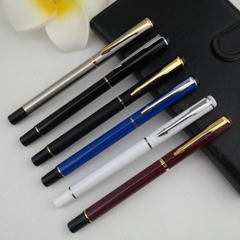 все цены на Manufacturers special sales promotion business gift penmetal liqud-lnk gold pen neutral pen 13.7*1cm 5pcs/set mixed color онлайн
