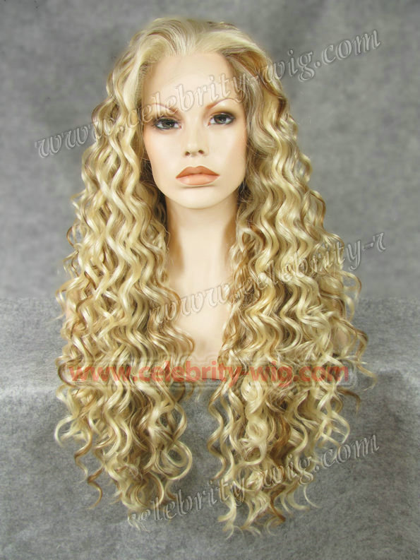 N18-613 27 Stunning Curly Synthetic Lace Front Wig Rupaul Wig free express  shipping 1e23aa475f