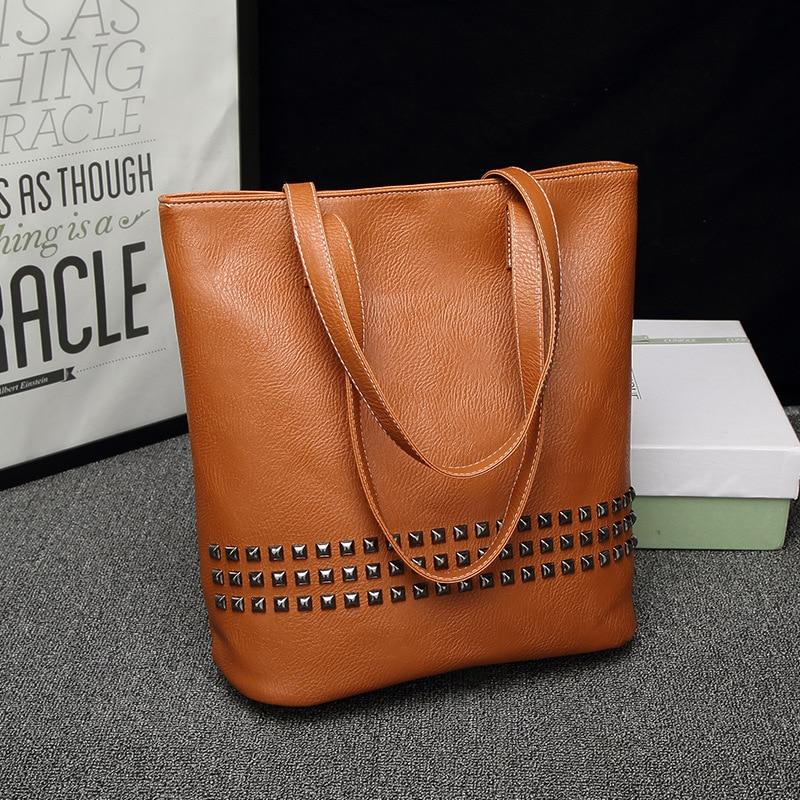Di Borsa A In blu Caldo arancione Femminile Vintage Quotidiano Donne Pu Causale Vendita Pelle Messenger Tracolla Nero Lady Bag Dimensioni Grandi Rivet Il 8f0x5qwZ