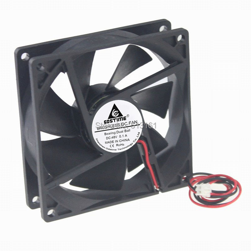 1Pcs Gdstime 9225 9cm 90mm 48V 0 1A Double Ball Bearing Server DC Cooling Fan in Fans Cooling from Computer Office