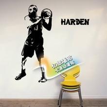 Free shiping mail custom cartoon stickers in the NBA sports rockets James harden wall