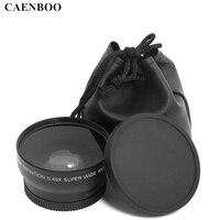 Caenboo 0.45x55 мм 58 мм 0.43x62 67 72 широкоугольный макрообъектив широкоугольный камера объектив для Canon EOS Nikon для SONY LENS аксессуары
