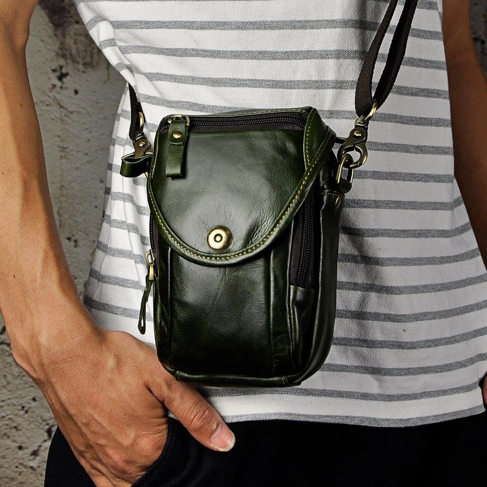 Mode äkta läder multifunktion sommar påse krok midja pack - Bälten väskor - Foto 5
