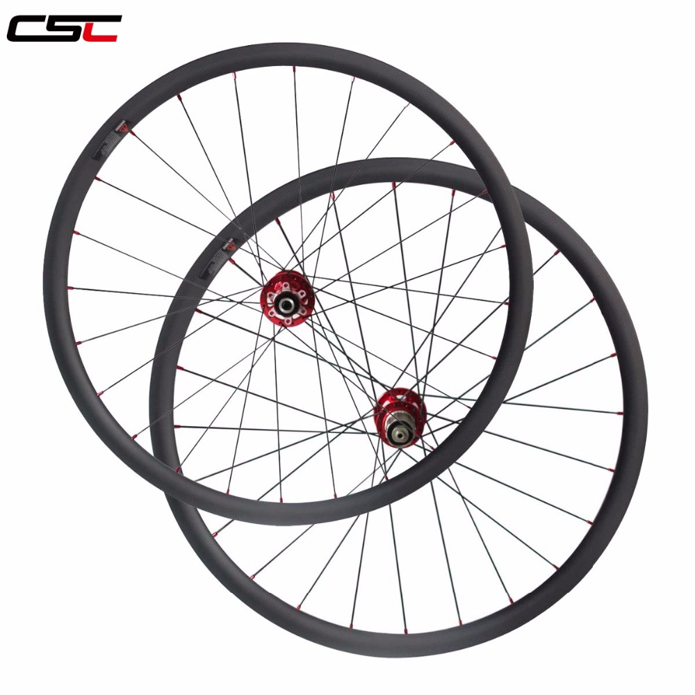 Disc Brake 6 Bolt Hub 30mm 40mm Clincher tubeless wide 25 Cyclocross Carbon Wheels Bike Bicycle Disc Wheelset + CN 424 spokes road disc brake bike 50mm clincher carbon wheels 38mm 60mm cyclocross bicycle wheelset straight pull disc brake bicycle wheels