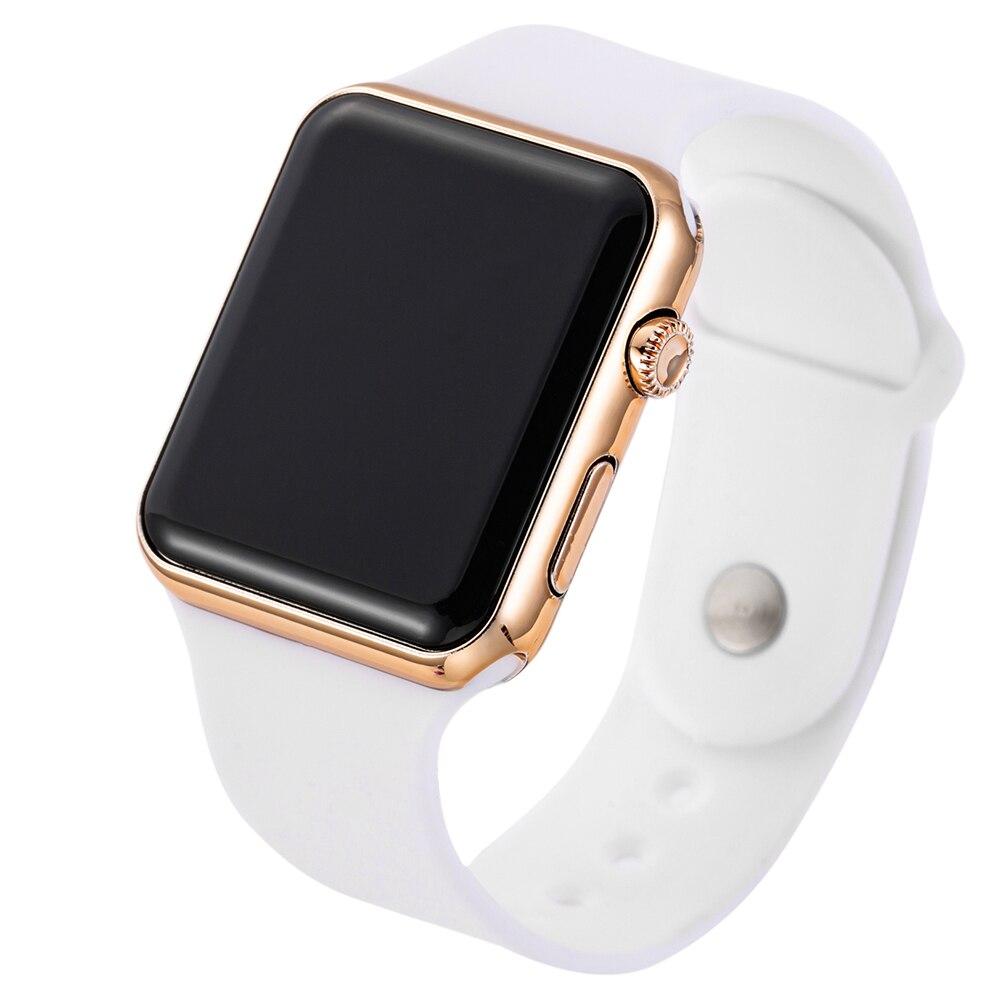 2019 nowy różowy Casual zegarki kobiety zegarek LED sportowy cyfrowy mężczyźni zegarek silikonowy kobiety zegarek Reloj Mujer Erkek Kol Saati 4