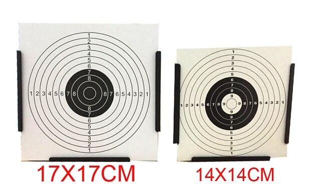 Airgun Target y Cone Pellet Black en forma de cono. Objetos de papel de 20 piezas / También para Paintball y BB Gun Shooting