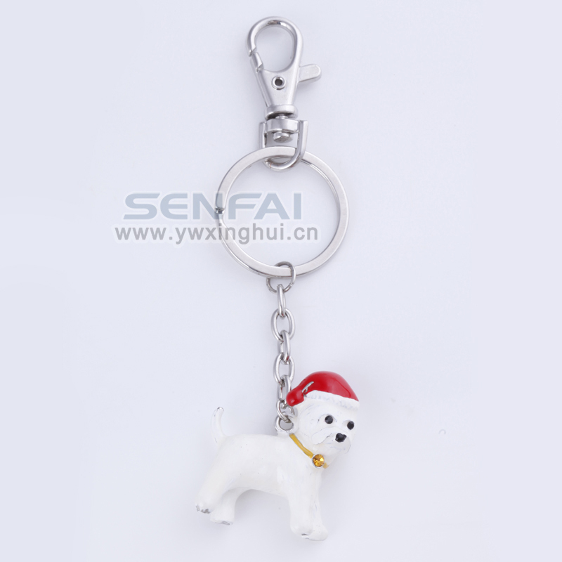 1pcs Christmas Dog Birthday Gift keychain,Novelty Kawaii Small Casual keychain Fashion jewelry SENFAI Brand KC5802