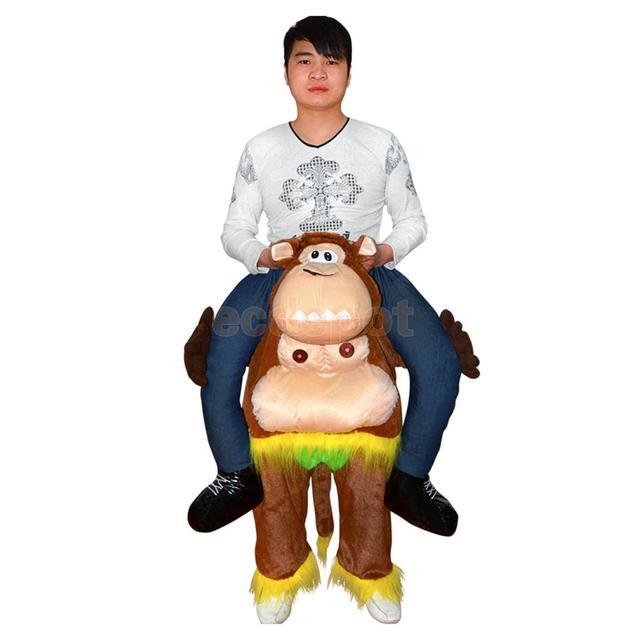 Gorilla Affe Zurück Schulter Tragen auf Piggy Back Kostümfest Unisex ...