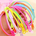 SL027 2016 HOT Free Shipping New !! fluorescent color rainbow Levels personality zipper bracelet Wholesale