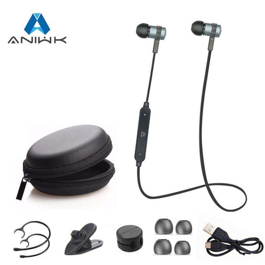 где купить Brand Metal 4.2 Bluetooth Headphone Wireless Stereo Headset Sport Earhook Earphone with microphone USB Charge fone de ouvido по лучшей цене
