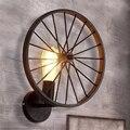 Американский Ретро промышленный ветер светодиодный E27 одноголовый настенный светильник черный железный арт спальня прохода Коридорная в с...