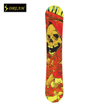 Customized Painting Wooden Snowboards Flexiable And Stable With Carbon Fiber P-TEX And ABS Side Wall Adults Skiing Board