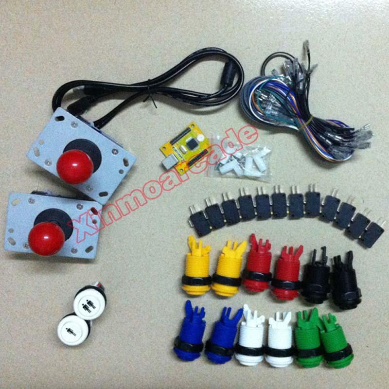 아케이드 JAMMA MAME DIY 부품 2 인용 PC PS / 3 2 IN 1 인터페이스 USB 인코더와 조이스틱 및 HAPP 버튼