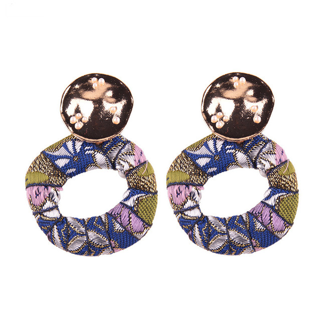 New Arrival Colorful Bohemian Trendy Stud Earring Simple Design Fashion Statement Earring Jewelry for Women