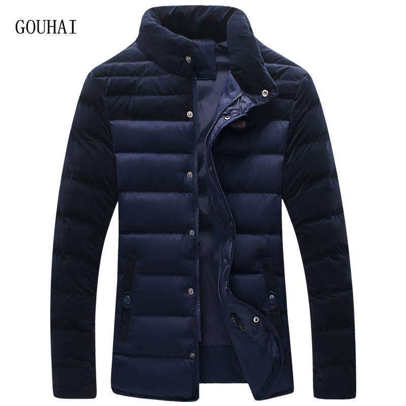 2016 Fashion Men Winter Jacket Warm Casual Patchwork Man Popular Coat For Male Plus Size M-4XL 5XL Stand Collar Snow Overcoat
