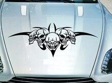 цена на 60 x 20cm Creative Car Stickers Cool Skull Ghost Rider Evil Decals Auto Car Styling Waterproof Car Head Sticker Car Accessories