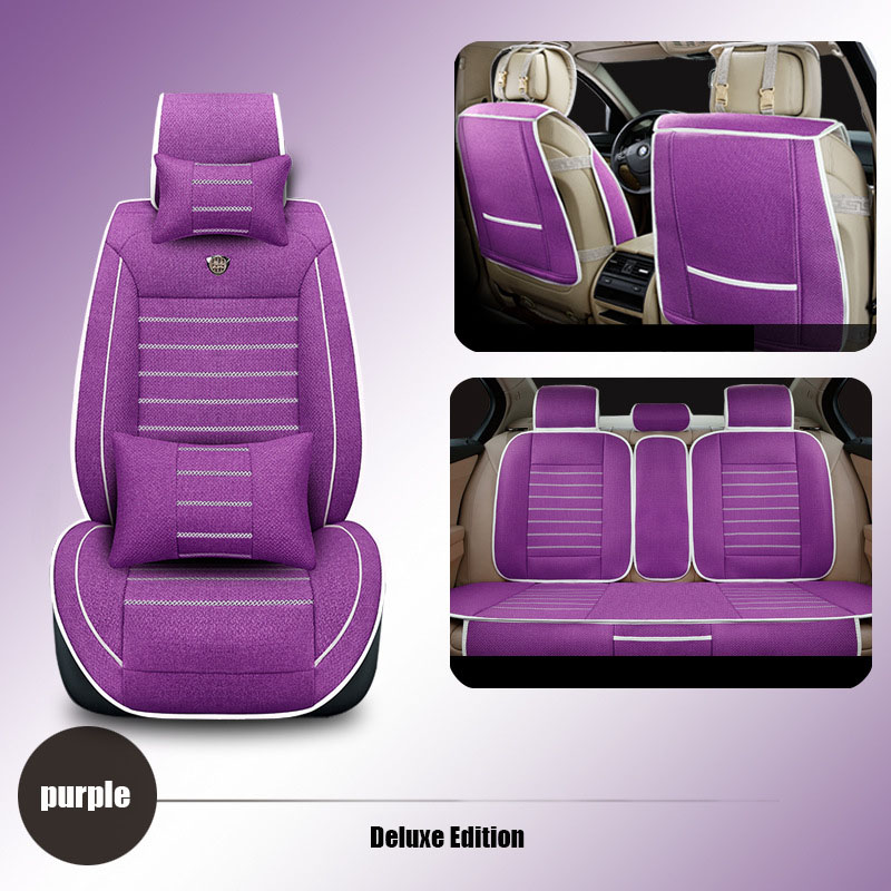 High quality linen Universal car seat covers For Toyota Corolla Camry Rav4 Auris Prius Yalis car accessories cushions styling kalaisike leather universal car seat covers for toyota all models rav4 wish land cruiser vitz mark auris prius camry corolla