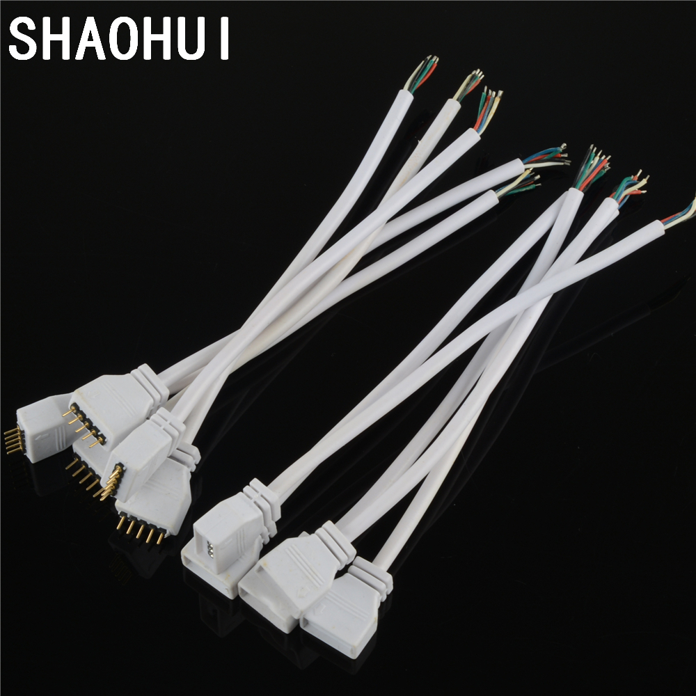 5 pairs White 5Pin Female Male Power Connector with 15cm Wire Cable Led Connectors For RGBW RGB 5050 LED Strip free best price10 pairs 4pin jst connector male female cable for smd 5050 3528 rgb color led strip wire ws2801 lpd8806 rgb led strip