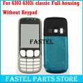 New Full Phone Housing Cover Case+ ( No Keypad ) for Nokia 6303c 6303 classic 6303ci 6303i classic+Tools Free shipping