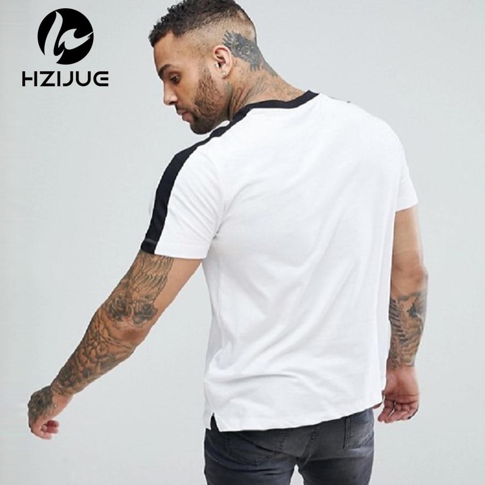 HZIJUE Fashion 2018 summer Men O-Neck 100% Cotton T-shirt Mens Casual Tops Tees 5 colors Hip Hop Mens short Sleeve Tshirt man