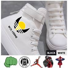 Superhero Movie Captain/Ghost Rider/Spider-Man/Doctor Hoge Sneakers VelcroShoelace Canvas Student Dames Schoenen A193291(China)