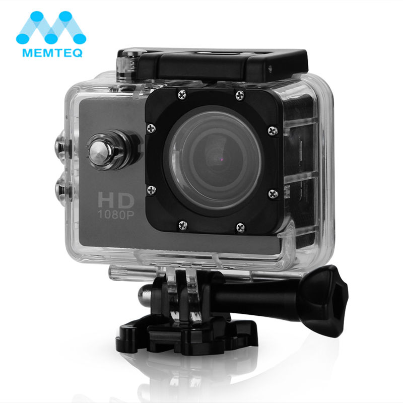 MEMTEQ FULL HD Outdoor Waterproof Camera Video Camera DV <font><b>Camcorder</b></font> 1080P Wide Angle Rated For Camera Accessories
