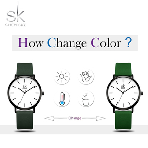 Image 2 - Shengke ファッション女性のクォーツ時計女性クリエイティブストラップ色を変更時計アナログレディースドレスジュネーブ腕時計リロイ Mujer