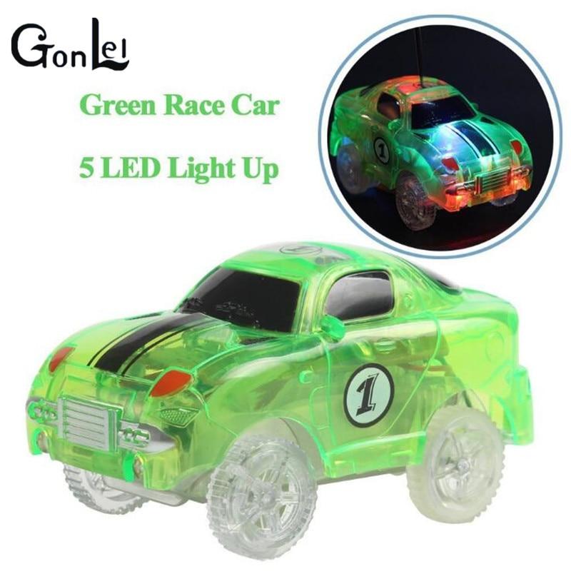 (GonLeI)In Stock New Tracks Cars LED Light Electronics Car Tracks Toy Parts Car for Children Boys Birthday Christmas Gift