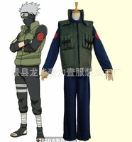 Japanese anime peripherals movie Naruto flame Hatake Kakashi Uzumaki Naruto cosplay Top Pants Vest sets halloween costume