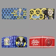 Hot Game Fallout Vault Boy Character Short Wallet Anime Card Holder for Men and Women Kids Birthday Gift Free Shipping