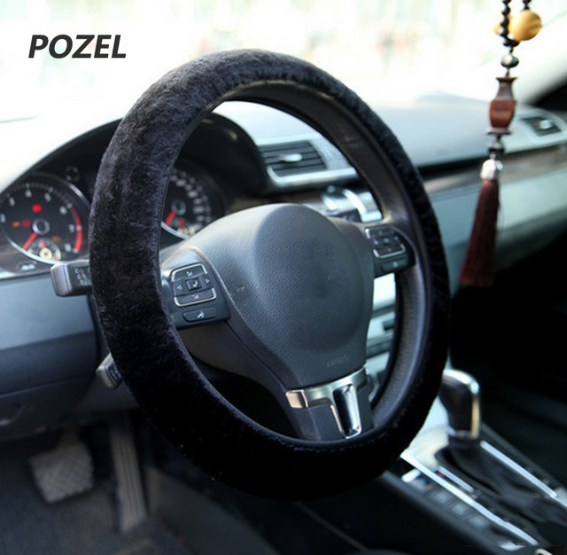Car Steering Wheel Cover Warm Plush Universal Interior Accessories